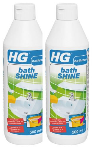 HG bath shine 500ml Bottle Part No: 145050106 Twin Pack